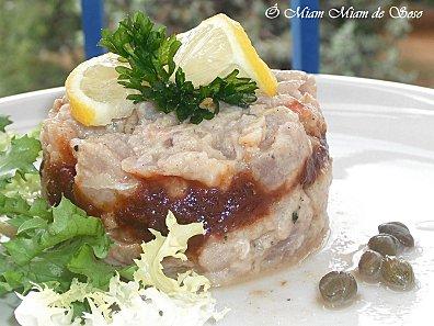 tartare de thon rouget confit