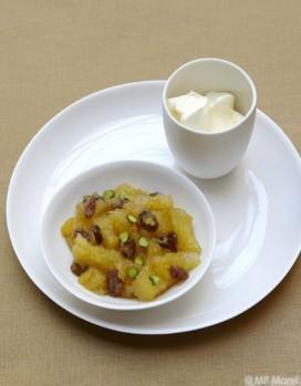 compote d'ananas aux pistaches