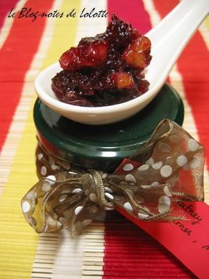 Chutney Cranberries, Raisins, Pommes aux Noix de Pécan
