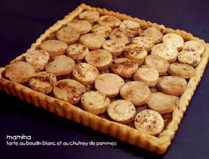 Tarte au Boudin Blanc et Confit de Pommes à la Noix