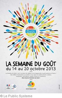 affiche semaine du gout 2013